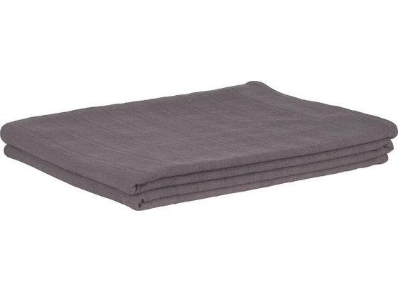 Přehoz Solid One -ext- - tmavě šedá, textil (140/210cm)