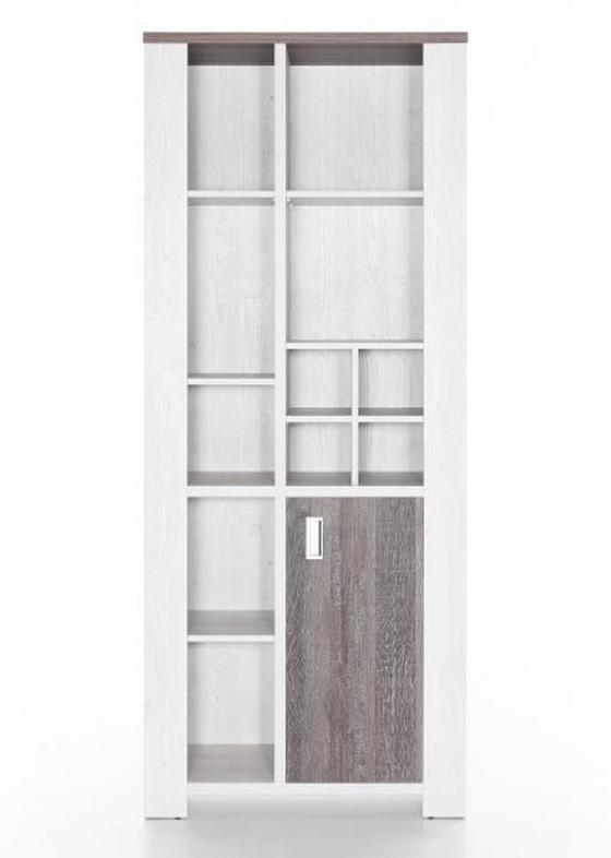 Regál Sultan - barvy pinie, Romantický / Rustikální, dřevěný materiál (82/200/43cm)