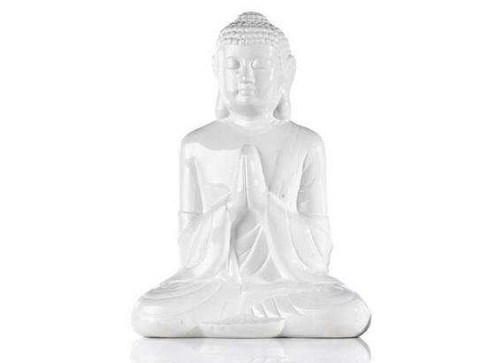 Buddha Buddha - bílá/zelená, Lifestyle, keramika (20cm) - Mömax modern living