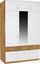 Aufsatzschrank Aalen Extra, 136cm - Eichefarben/Weiß, KONVENTIONELL, Holzwerkstoff (136/39/54cm)