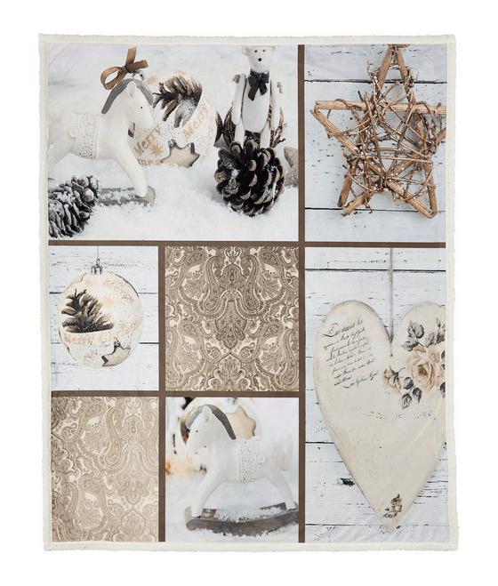Deka Patchwork - bílá/hnědá, Konvenční, textil (130/160cm) - MÖMAX modern living