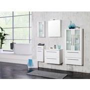 Spiegelschrank mit Türdämpfer + Led Mailand B: 60cm Weiß - Weiß, MODERN, Holzwerkstoff (60/66/20cm)