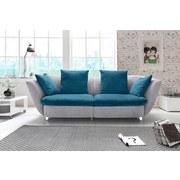 Sofa Modern - Türkis/Chromfarben, MODERN, Textil (244/85/115cm)