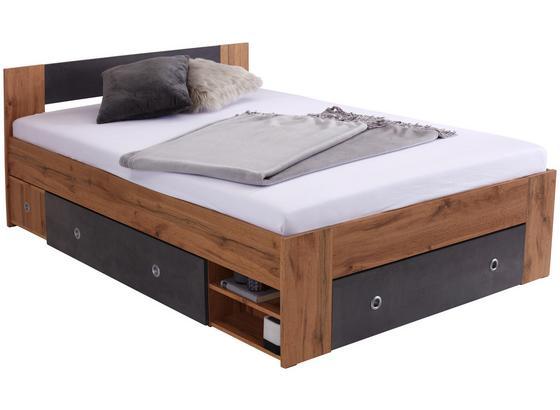 63d0f039a3 Bett Azurro 140 - Eichefarben, MODERN, Holzwerkstoff (204/75/145cm)