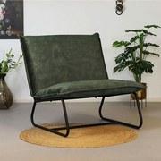 Sessel Paris Bench B: 83 cm Olivgrün - Schwarz/Olivgrün, MODERN, Textil (83/83/75cm) - Livetastic