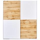 Schwebetürenschrank Victor 2 195x170cm - Eichefarben/Weiß, MODERN, Holzwerkstoff (170/195/63cm)