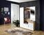 Šatna Mia - bílá/barvy dubu, Moderní, dřevěný materiál/sklo (150/190/30cm)
