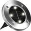 LED-disk Lights 4er Set - Silberfarben/Schwarz, MODERN, Kunststoff/Metall (11,5/2cm) - Mediashop