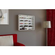 Hängevitrine Mandosa L B: 80 cm Weiß Dekor - Transparent/Weiß, KONVENTIONELL, Glas/Holzwerkstoff (80/60/10cm)