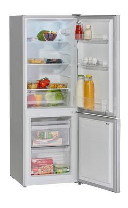 Kühl-Gefrier-Kombination in Silberfarben