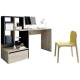 Schreibtisch mit Stauraum B 145 Paco, Eiche/Anthrazit - Eichefarben/Anthrazit, Basics, Holzwerkstoff (145/51,6/111,6cm) - P & B