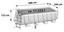Stahlrahmenpoolset Power Steel Rectangular 488 X 244 X 122 cm - Grau, Kunststoff/Metall (488/244/122cm) - Bestway