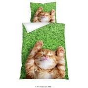Bettwäsche Tiermotiv Cat 140/200 cm - Multicolor, Basics, Textil (140/200cm)