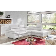 Wohnlandschaft In L-Form Driver 266x214 cm - Chromfarben/Weiß, MODERN, Textil (266/214cm)