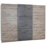 Schwebetürenschrank 270cm Malta, Eiche/ Betonoxid Dekor - Eichefarben/Dunkelgrau, MODERN, Holzwerkstoff (270/210/60cm)