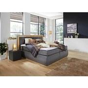 BOXSPRINGBETT Toscana 180x200 grau - Eichefarben/Grau, MODERN, Textil (180/200cm)