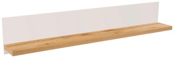 Police Nástěnná Eleganza - barvy dubu, Moderní, dřevěný materiál (190/30/21.6cm)
