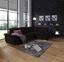 Wohnlandschaft in L-Form Richmond 285x206 cm - Dunkelbraun/Silberfarben, MODERN, Holz/Holzwerkstoff (285/206cm) - Ombra