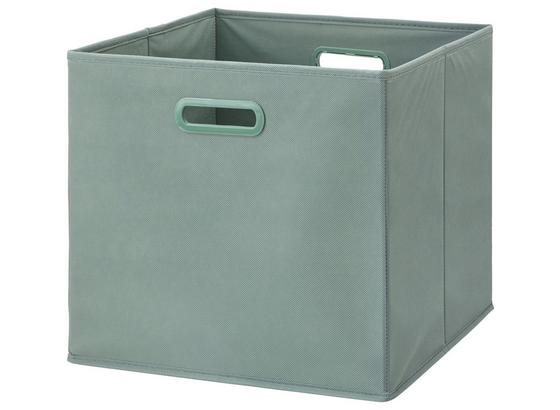 Skladací Box Elli -ext- -top- - jadeitovozelená, Moderný, kartón/textil (33/33/32cm) - Modern Living