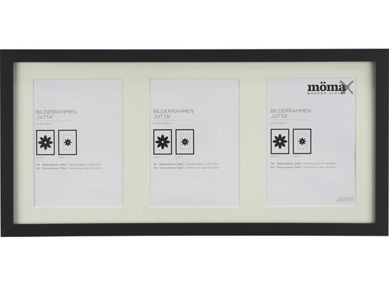 Rám Na Obrazy Gitta - černá, Moderní, kompozitní dřevo/sklo (23/50cm) - Mömax modern living