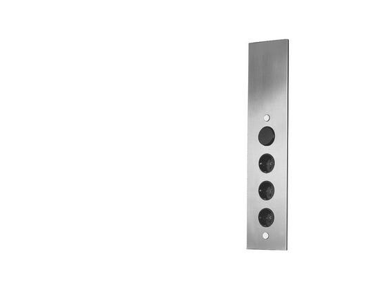 Ecksteckdosenelement Edelstahl - ROMANTIK / LANDHAUS, Metall (8,2/46/8,2cm) - HKT
