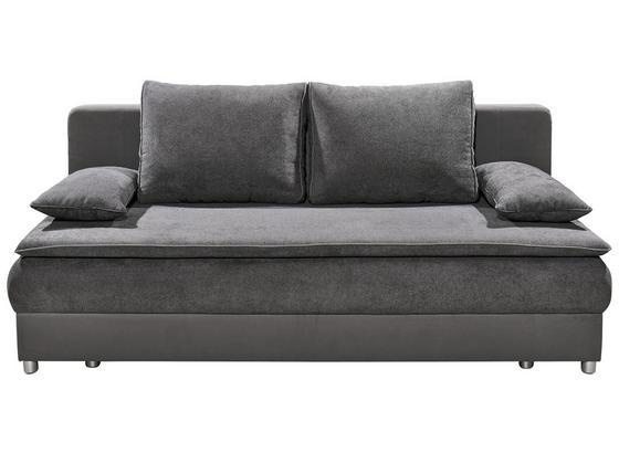 Schlafsofa Svenja B: Ca 208 cm - Dunkelgrau/Silberfarben, KONVENTIONELL, Holzwerkstoff/Textil (208/82/93cm) - Carryhome