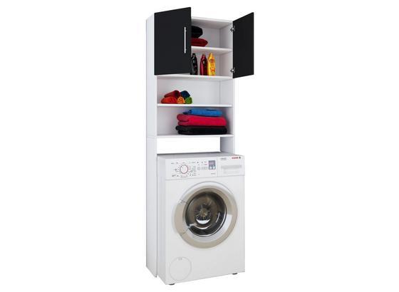 Waschmaschinenverbau Jutas B: 64 cm - Schwarz/Weiß, Basics, Holzwerkstoff (64/190/25cm) - Livetastic