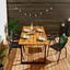 Záhradný Stôl Leonor 180x90cm - čierna/farby akácie, Moderný, kov/drevo (180/90/75cm) - Modern Living
