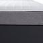Boxspringbett mit Topper 180x200cm Hampton H2/H3 - Anthrazit/Alufarben, KONVENTIONELL, Textil (180/200cm) - Luca Bessoni