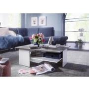 Couchtisch Holz mit Ablagefläche Grau/Weiß - Weiß/Grau, MODERN, Holzwerkstoff (90/60/35cm) - MID.YOU