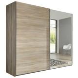 Skriňa Ernie Dekor Dub - farby dubu, Moderný, drevený materiál/pohár (225/210/65cm)