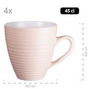 Kombiservice Maivi 16tlg. für 4 Personen - Beige/Rosa, Basics, Keramik - Mäser