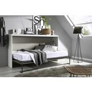 Schrankklappbett Albero 214 cm Weiß/Grau - Weiß/Grau, MODERN, Holzwerkstoff (214/115/40cm) - MID.YOU
