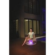 Luftsessel Poolsphere Ø82xh 41cm mit Led 75085 - Transparent/Beige, MODERN, Kunststoff (82/41cm) - Bestway