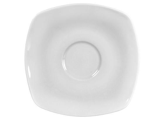 Untertasse Maya - Weiß, MODERN, Keramik (14/14cm) - Luca Bessoni