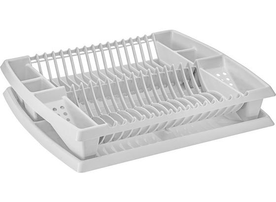 Odkvapkávač Na Riad S Podnosom - biela, plast (44,2/8,5/38,3cm) - Mömax modern living