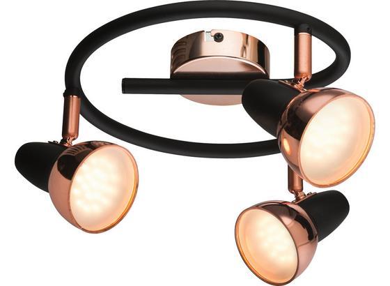 LED-Spotrondel Dilara - Schwarz/Kupferfarben, Design, Kunststoff/Metall (25/14,5cm)