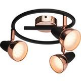LED-Spotrondel Dilara - Schwarz/Kupferfarben, MODERN, Kunststoff/Metall (25/14,5cm)