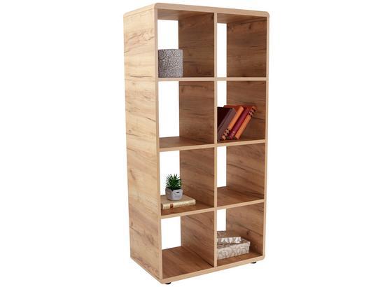 Regál Fontana Ftr02 - farby dubu, Moderný, kompozitné drevo (73,2/145/35cm)