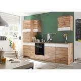 Kuchynská Linka Fondue - farby dubu/biela, Moderný, drevený materiál (270/211/60cm)