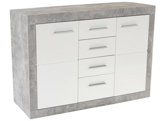 Komoda Sideboard Malta - šedá/bílá, Moderní, kompozitní dřevo (138/86/35cm)