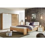 Pasparta Milwaukee - bílá/barvy dubu, Konvenční, kov/dřevěný materiál (280,6/215,1/22cm)
