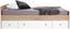 Stauraumbett Wiki 90x200 Eiche/Weiß - Weiß/Sonoma Eiche, KONVENTIONELL, Holzwerkstoff (204/66/95cm)