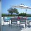 Zahradní Stůl Sammy 5 - šedá, kov/umělá hmota (200/74/100cm) - Mömax modern living