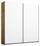 Schwebetürenschrank Belluno 181 cm Wotan/ Weiß - Eichefarben/Weiß, MODERN, Holzwerkstoff (181/210/62cm)