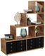 Regál Fontana Ftr03 - barvy dubu, Moderní, kompozitní dřevo (138,5/148/35cm)