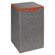 Wäschetonne Filz Orange - Orange/Grau, MODERN, Textil (32/54/32cm)