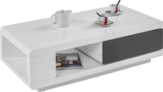 Konferenční Stolek Chicago - bílá, Moderní, dřevěný materiál (120/36/60cm)