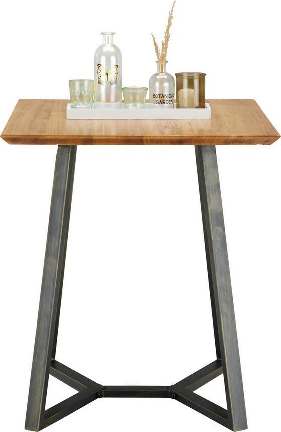 Jedálenský Stôl Iron - prírodné farby/čierna, Moderný, kov/drevo (65/76/65cm) - Zandiara