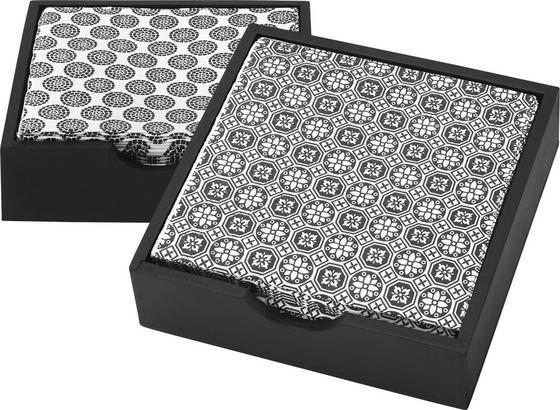Servítky Shiva - čierna/biela, Štýlový, drevo/papier (12/12/3,5cm) - Mömax modern living
